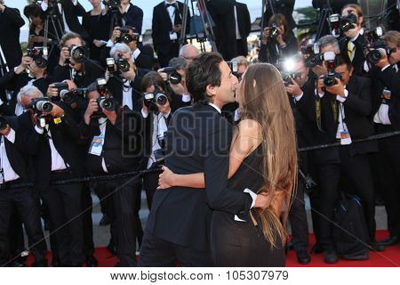 CANNES, FRANCE - MAY 24: Lara Lieto; Adrien Brody attend the Closing Ceremony and 'A Fistful of Dollars' Screening during the 67th Cannes Film Festival on May 24, 2014 in Cannes, France.