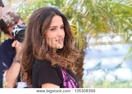 CANNES, FRANCE - MAY 17: Salma Hayek attends the 'Hommage Au Cinema D'Animation' photocall at the 67th Annual Cannes Film Festival on May 17, 2014 in Cannes, France.
