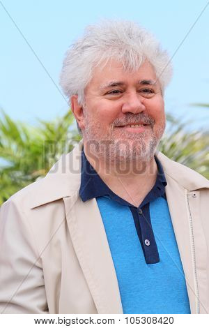 CANNES, FRANCE - MAY 17: Producer Pedro Almodovar attends the 'Relatos Salvajes' (Savage Tales) photocall during the 67th Annual Cannes Film Festival on May 17, 2014 in Cannes, France.