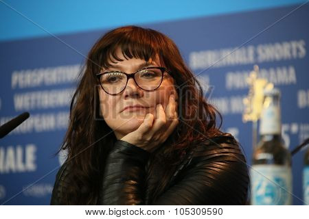 BERLIN, GERMANY - FEBRUARY 5: Isabel Coixet poses during the  press conference for the 'Nadie quiere la noche'  presented at the 65th Film Festival in Berlin, on February 5, 2015.