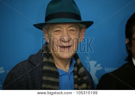 BERLIN, GERMANY - FEBRUARY 08: Ian McKellen attends a photocal of the film 'Mr Holmes' presented in the competition of the 65th Film Festival Berlinale in Berlin, on February 8, 2015