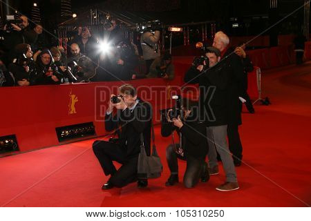BERLIN, GERMANY - FEBRUARY 09: Photographers attend the 'As We Were Dreaming' premiere during the 65th Berlinale Film Festival at Berlinale Palace on February 9, 2015 in Berlin, Germany.