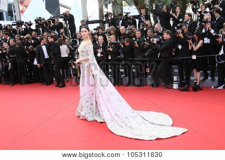 Fan Bingbing attends the opening ceremony and 'La Tete Haute' premiere during the 68th annual Cannes Film Festival on May 13, 2015 in Cannes, France.
