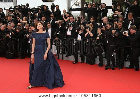 Ines de La Fressange attends the 'Mad Max : Fury Road' Premiere during the 68th annual Cannes Film Festival on May 14, 2015 in Cannes, France.