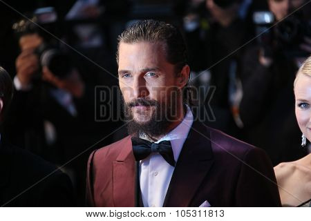 Matthew McConaughey attends the premiere of 'The Sea Of Trees' during the 68th annual Cannes Film Festival on May 16, 2015 in Cannes, France.