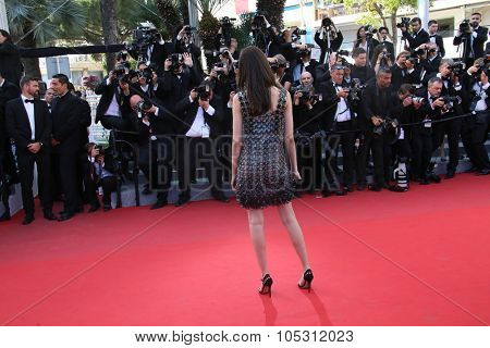 Luma Grothe attends the 'Carol' Premiere during the 68th annual Cannes Film Festival on May 17, 2015 in Cannes, France.