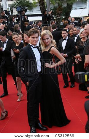 Pixie Lott and Oliver Cheshire attend the 'Dheepan' Premiere during the 68th annual Cannes Film Festival on May 21, 2015 in Cannes, France.