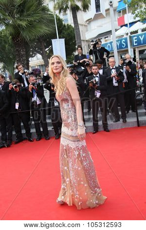 Sarah Marshall attends the 'Dheepan' Premiere during the 68th annual Cannes Film Festival on May 21, 2015 in Cannes, France.