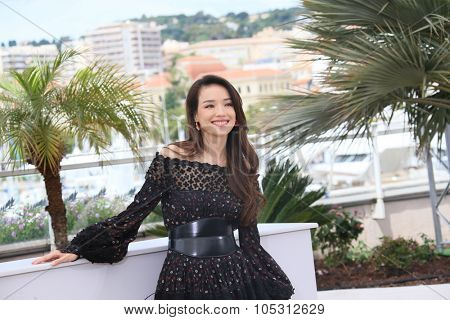 Shu Qi attends a photocall for 'Nie Yinniang' during the 68th annual Cannes Film Festival on May 21, 2015 in Cannes, France.