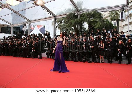 Emma Miller  attends the 'Macbeth' Premiere during the 68th annual Cannes Film Festival on May 23, 2015 in Cannes, France.
