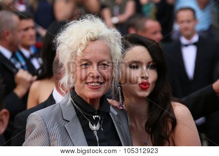 Ellen von Unwerth, Emma Miller  attend the 'Macbeth' Premiere during the 68th annual Cannes Film Festival on May 23, 2015 in Cannes, France.