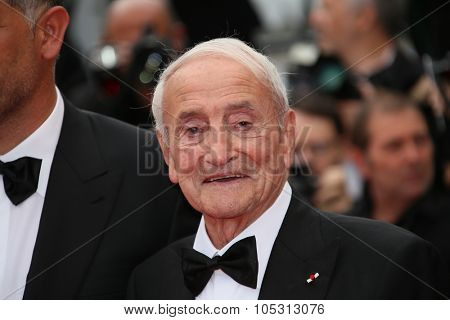 Claude Lorius attends the closing ceremony and 'Le Glace Et Le Ciel' Premiere during the 68th annual Cannes Film Festival on May 24, 2015 in Cannes, France.