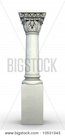 Isolated greek architectural column