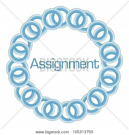 Assignment Text Inside Blue Rings Circular