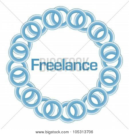 Freelance Text Inside Blue Rings Circular