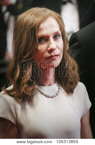 Actress Isabelle Huppert attends the 'Louder Than Bombs' premiere during the 68th annual Cannes Film Festival on May 18, 2015 in Cannes, France.