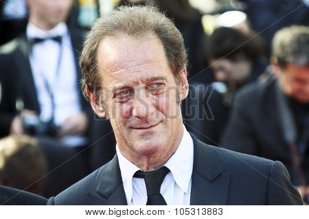 Vincent Lindon attends the Premiere of 'La Loi Du Marche' (The Measure Of A Man') during the 68th annual Cannes Film Festival on May 18, 2015 in Cannes, France.