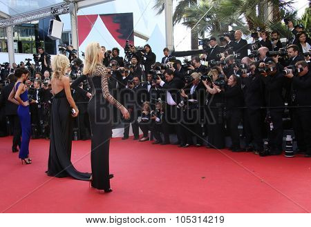 CANNES, FRANCE - MAY 20, 2015:  Anja Rubik attends the 'Youth' Premiere during the 68th annual Cannes Film Festival on May 20, 2015 in Cannes, France.