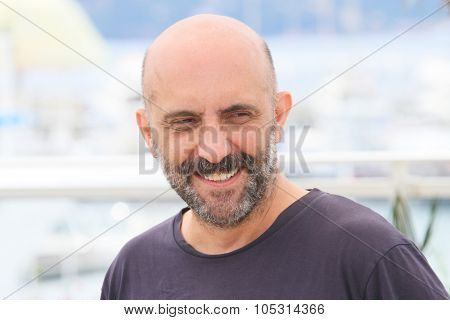 Gaspar Noe attends the 'Love' photocall during the 68th annual Cannes Film Festival on May 21, 2015 in Cannes, France.