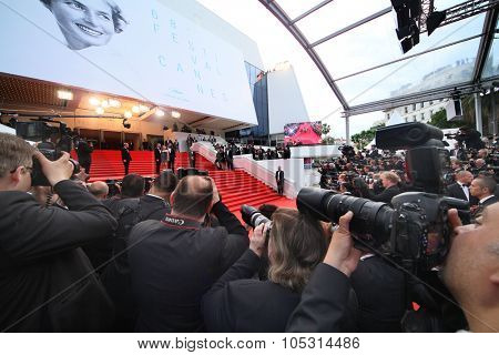 CANNES, FRANCE - MAY 22:  A general view of atmosphere on during the 68th Annual Cannes Film Festival on May 22, 2015 in Cannes, France