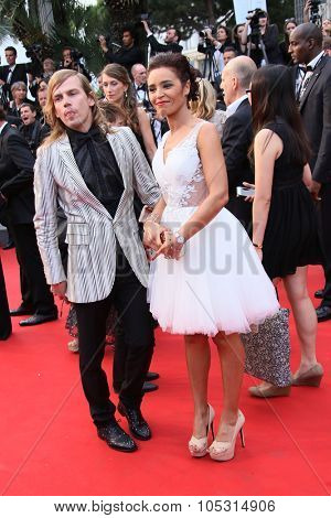 Christophe Guillarme and Aida Touihri  attend the Premiere of 'Irrational Man' during the 68th annual Cannes Film Festival on May 15, 2015 in Cannes, France.