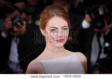 Emma Stone attends the Premiere of 'Irrational Man' during the 68th annual Cannes Film Festival on May 15, 2015 in Cannes, France.