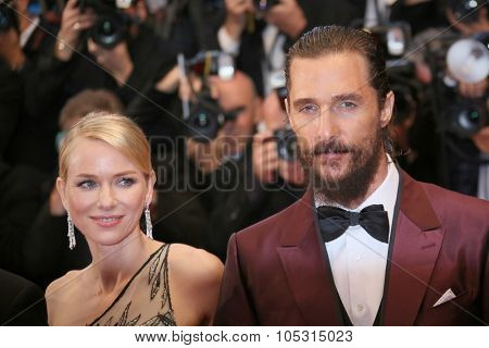 Matthew McConaughey,  Naomi Watts attend the premiere of 'The Sea Of Trees' during the 68th annual Cannes Film Festival on May 16, 2015 in Cannes, France.