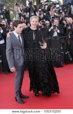 Sienna Miller & Xavier Dolan attend the 'Carol' Premiere during the 68th annual Cannes Film Festival on May 17, 2015 in Cannes, France.
