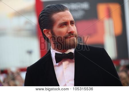 Jake Gyllenhaal attends the opening ceremony and premiere of 'Everest' during the 72nd Venice Film Festival on September 2, 2015 in Venice, Italy.