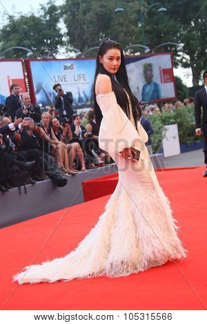Zhang Yan attends the opening ceremony and premiere of 'Everest' during the 72nd Venice Film Festival on September 2, 2015 in Venice, Italy.