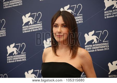 Anita Caprioli attends the Jury Photocall during the 72nd Venice Film Festival on September 2, 2015 in Venice, Italy.