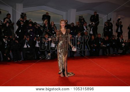 Victoria Bonya attends the premiere of 'Equals' during the 72nd Venice Film Festival at Sala Grande on September 5, 2015 in Venice, Italy.