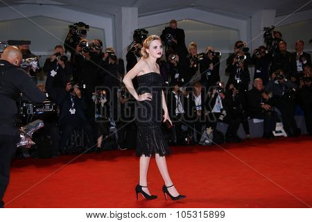 Odessa Young attends the premiere of 'Equals' during the 72nd Venice Film Festival at Sala Grande on September 5, 2015 in Venice, Italy.