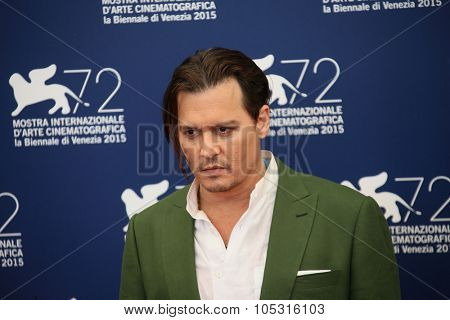 Johnny Depp attends a photocall for 'Black Mass' during the 72nd Venice Film Festival on September 4, 2015 in Venice, Italy.