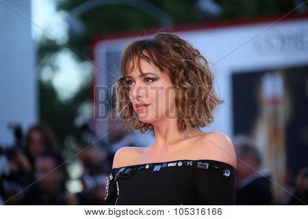 Dakota Johnson attends a premiere for 'A Bigger Splash' during the 72nd Venice Film Festival at Sala Grande on September 6, 2015 in Venice, Italy.