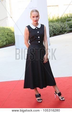 Writer Mona Fastvold attends a premiere for 'The Childhood Of A Leader' during the 72nd Venice Film Festival on September 5, 2015 in Venice, Italy.