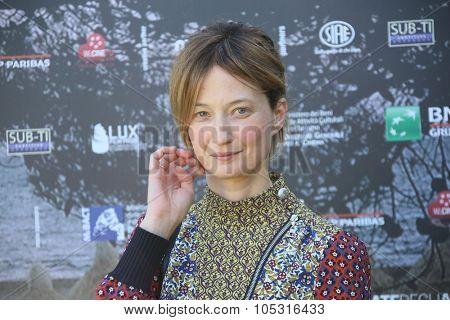 Alba Rohrwacher attends a photocall for 'Viva la Sposa' during the 72nd Venice Film Festival at Villa degli Autori on September 7, 2015 in Venice, Italy.