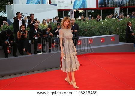 Gaia Bermani Amaral attends a premiere for 'Rabin, The Last Day' during the 72nd Venice Film Festival at Palazzo del Casino on September 7, 2015 in Venice, Italy.