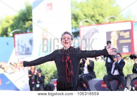 Director Laurie Anderson attends a premiere for 'Heart Of A Dog' during the 72nd Venice Film Festival at Sala Darsena on September 9, 2015 in Venice, Italy.
