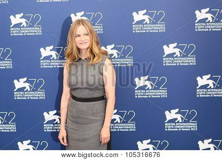 VENICE, ITALY - SEPTEMBER 08: Jennifer Jason Leigh during the 72th Venice Film Festival 2015 in Venice, Italy