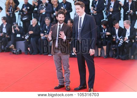 VENICE, ITALY - SEPTEMBER 08: Charlie Kaufman and Duke Johnson during the 72th Venice Film Festival 2015 in Venice, Italy