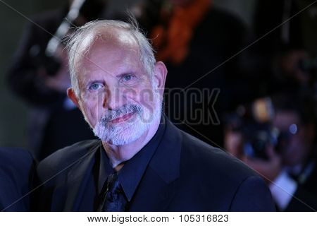 Venice, Italy - 09 September 2015:  Brian De Palma attends a premiere for 'De Palma' And 'Jaeger-LeCoultre Glory to the Filmmaker 2015 Award' - 72nd Venice Film Festival