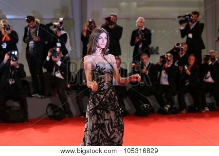 Venice, Italy - 09 September 2015: Elisa Sednaoui attends a premiere for 'De Palma' And 'Jaeger-LeCoultre Glory to the Filmmaker 2015 Award' during the 72nd Venice Film Festival