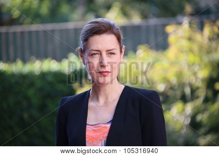 Venice, Italy - 10 September 2015: Actress Gina McKee attends a premiere for 'Taj Mahal' during the 72nd Venice Film Festival at Sala Darsena