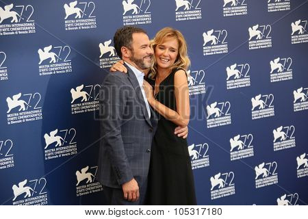 Venice, Italy - 11 September 2015: Valeria Golino, Massimiliano Gallo attend a photocall for 'Per Amor Vostro' during the 72nd Venice Film Festival