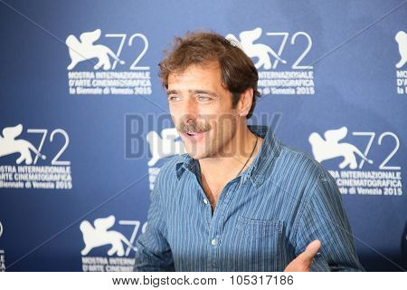 Venice, Italy - 11 September 2015: Adriano Giannini  attends a photocall for 'Per Amor Vostro' during the 72nd Venice Film Festival