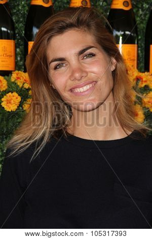 LOS ANGELES - OCT 17:  Delfina Blaquier at the Sixth-Annual Veuve Clicquot Polo Classic at the Will Rogers State Historic Park on October 17, 2015 in acific Palisades, CA