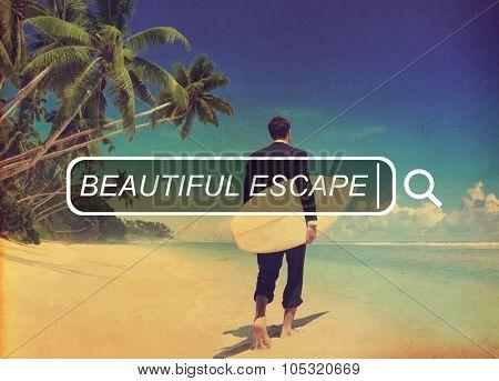 Beautiful Escape Enjoyment Carefree Freedom Concept