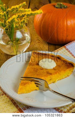 Pumpkin Pie With Cream