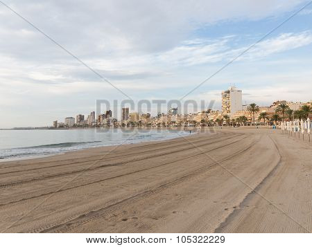 Early Morning On The Beach Of El Campello